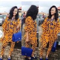H & D 2017new styl African Cotton odzież Dla Kobiet Top wosk Afrykański Bazin Tradycyjne Prywatne Zwyczaj Ubrania dashiki jeden kawałek