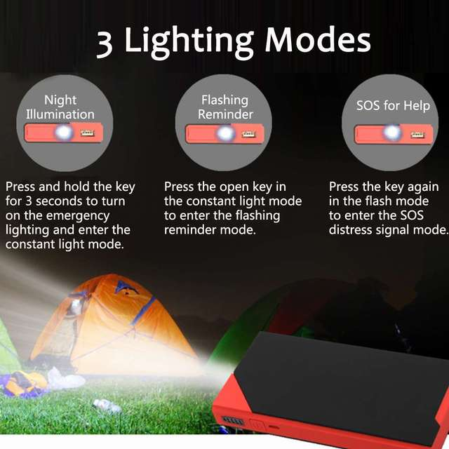 400A 12V LCD USB Car Jump Starter Pack Portable Car Battery Charger Booster Power Bank Safety Emergency Starting Device