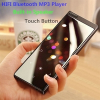 2018 New Arrival All Metal Touch Button HIFI Bluetooth MP3 Music Player Built in Speaker 8GB High Quality Lossless Sound with FM