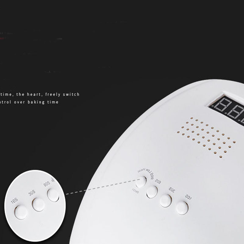 60W Nail Dryer UV LED Lamp LCD Display 24 LEDs Dryer Lamp Curing Gel Polish Auto Sensing Nail Manicure Tool Timer Set Red Light
