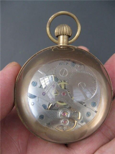 Montre de poche mécanique en verre de cuivre | Montre chinoise exquise faite à la main, vieux verre de cuivre, accessoires ménagers