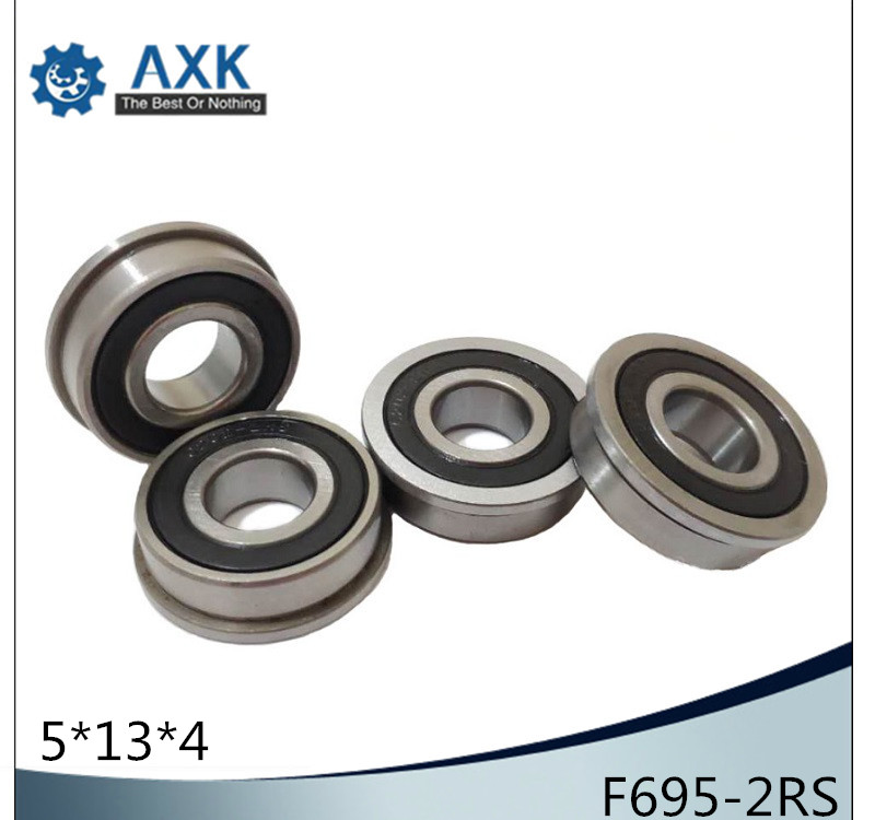 F695-2RS Bearing 5*13*4mm ( 10 PCS ) ABEC-1 Flanged Miniature F695RS Ball Bearings RF-1350DDF695-2RS Bearing 5*13*4mm ( 10 PCS ) ABEC-1 Flanged Miniature F695RS Ball Bearings RF-1350DD