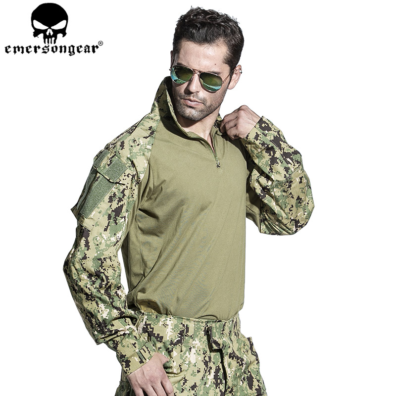 EMERSONGEAR Tactical Airsoft Shirt Pants with Knee Pads Combat Uniform Hunting Military Paintball G3 Clothes AOR2 EM7049 EM8596 emersongear g3 combat uniform shirt