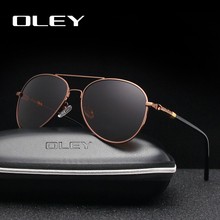 OLEY Brand Classic Pilot Polarized Sunglasses Fashion Retro Men Business Glasses Beach UV Protection Unisex Goggles Y1209