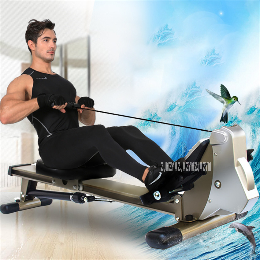 V336 Rowing Machine Mute Oil Resistance Body Glider Indoor Home Gym Equipment Abdominal Pectoral Arm Fitness Training Stamina