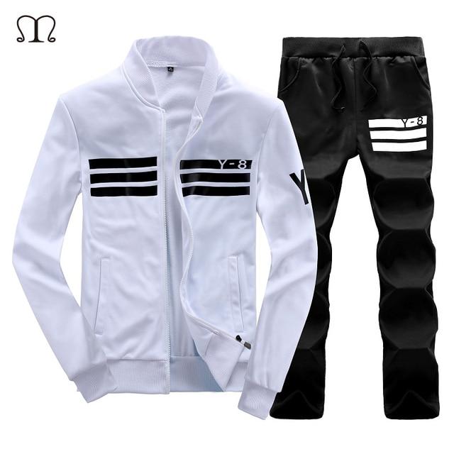 5c847227dbc 2018 New Men sportsuits Winter Track suits Cotton Track suit Coats  Tracksuit Men fleece Cardigans mens