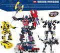 8711 8712 8713 Transformar Series Bumblebee Bloques de Construcción Juguetes Modelo de Robot 2 En 1 el Vehículo Sport Gudi