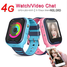 2019 4G AI GPS Wifi LBS Precise Remote Tracker Long Standby Color Touch Screen SOS Call Watch SmartWatch Kids Girl Child Boy(China)