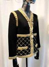 yarn gold side two pockets knit jacket
