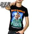 Iron Maiden AC DC Metallica The Beatles Nirvana Guns N Roses Rock 3D Printed Men's T Shirt Hip Hop Fashion Casual