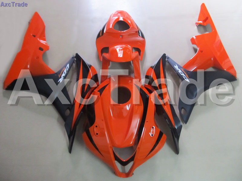 Moto Motorcycle Fairing Kit For Honda CBR600RR CBR600 CBR 600 RR 2007 2008 F5 ABS Plastic Fairings fairing-kit Orange Black C94 custom made motorcycle fairing kit for honda cbr600rr cbr600 cbr 600 rr 2007 2008 f5 abs fairings kits fairing kit bodywork c99