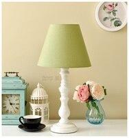 Simple Coréen décoratif lampe de Américain Pastorale frais Européenne Rose Dentelle De Mariage chambre étude chambre lampe de chevet