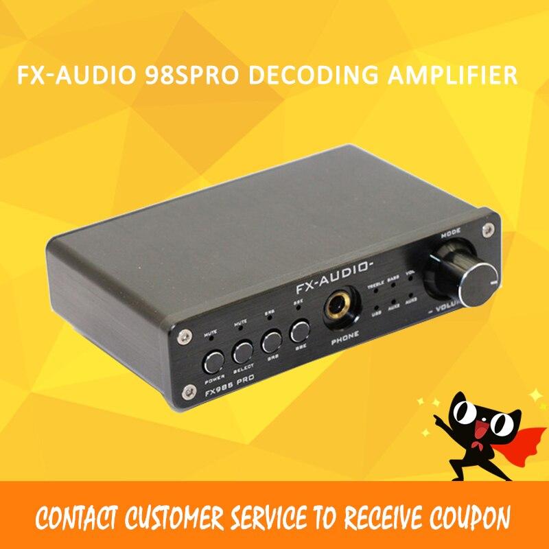 Fx-Audio 98Spro usb dac decoding hifi amplifiers PCM2704 MAX9722 pre-amp JRC NJW1144 amplificador audio аудио усилитель topping tp23 ta2021b classt usb pcm2704 uda1351ts