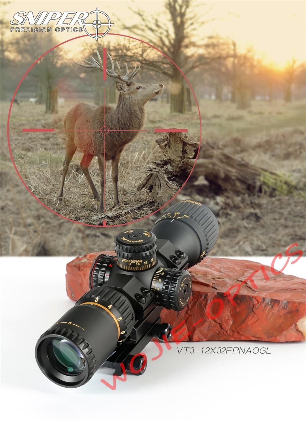 compacta tático riflescope vidro gravado reticle vermelho verde llluminate caça óptica