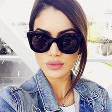 2019 Design de moda Olho de Gato Óculos De Sol Das Mulheres Lente Gradiente de Óculos de Sol Espelho Retro Óculos de sol oculos de sol Gafas UV400