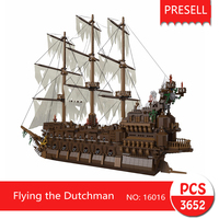 Lepin 16016 3652Pcs Movie Series Flying The Dutchman Blocks Bricks Toys For Children Compatible Legoing Pirates