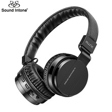 Sound Intone P2 + Стерео Bluetooth 4.0 Для Наушников Беспроводная Гарнитура на Ухо Наушники с Микрофоном TF Карта Fm-радио