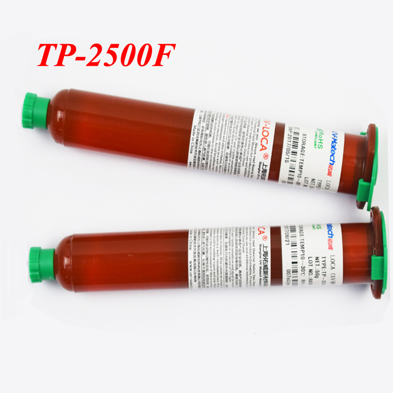 1PCS 100% Original TP-2500F UV Glue LOCA Liquid Optical Clear Adhesive 50g Super Glue For Mobile Outer Glass Len LCD Repair