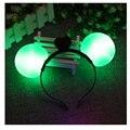 30 unidades/lot Minnie Mickey Mouse ears electricidad iluminar diademas multicolor suministros fiesta de cumpleaños para niños de regalo