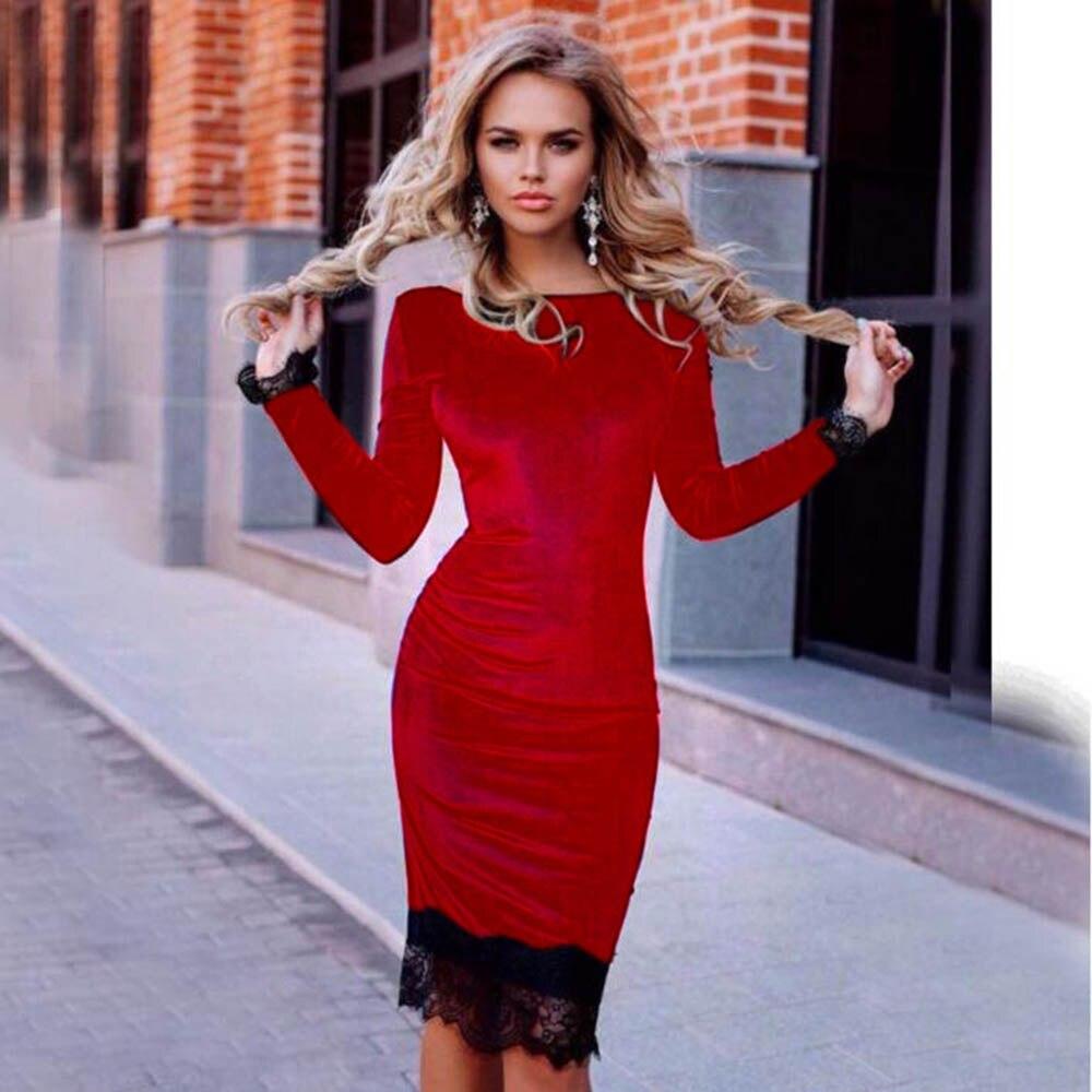 Vancol Langarm Nachtclub Partei Sexy Kleider Marke Designer elegante ...