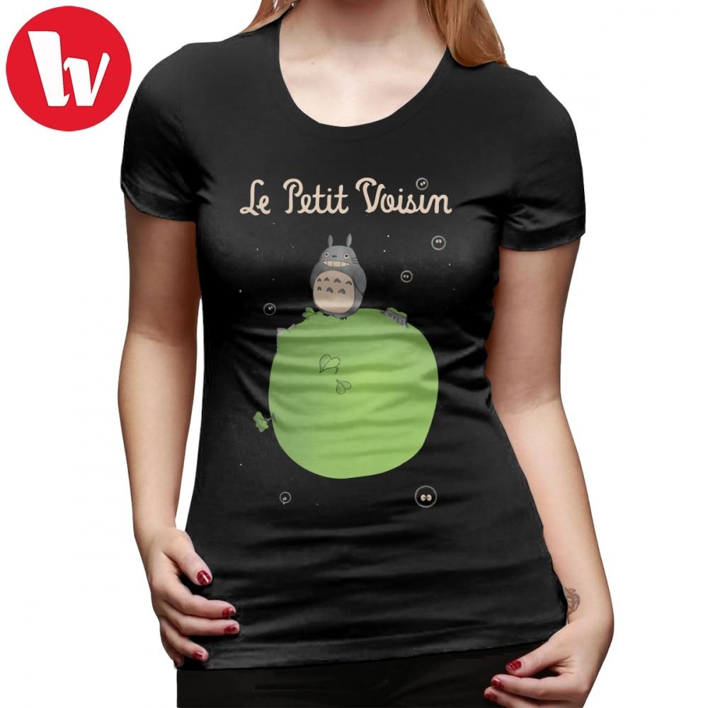 Little Prince T-Shirt Le Petit Voisin The Little Neighbour T Shirt Printed Short Sleeve Women Tshirt Trendy Ladies Tee Shirt