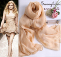 100% silk scarf luxury brand womens scarves New fashion spring summer style 2015 female egg nude color shawl wraps muslim hijab