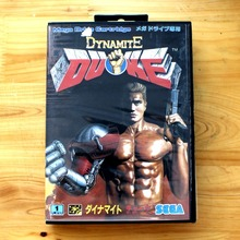 Dynamite Duke 16 Bit MD Game Card with Retail Box for Sega MegaDrive & Genesis Video Game console system