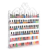 White 6 Tiers Nail Varnish Rack Wall Mounted Organizer Hold 120 Bottles Nail Polish or Essential Oils