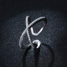 Atacado se encaixa jóias europeias 925 anéis de prata esterlina aberto 100% 925 prata esterlina strass anel feminino jóias 2018