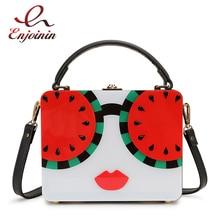 Handbag Lemon Acrylic Crossbody-Bag Trend Character-Design Female Ladies Box Pouch Watermelon