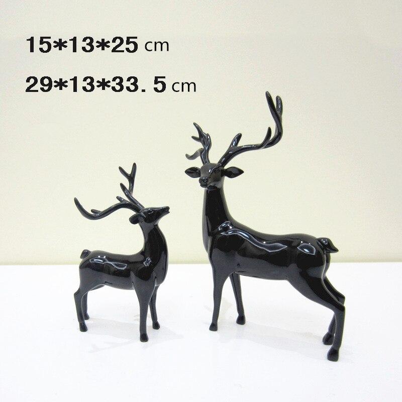 1 paar Kerst Herten Ambacht Home Decor Decoratie Moderne Figurine Miniaturen Xmas Geschenken Creatieve Hars Sculptuur Arts Ambachten - 2