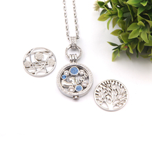 SANSHOOR Jewelry Lovely Baby Feet Crystal Coin Pendant Necklace Set with 2pcs Extra Coin Disc As Women Gift