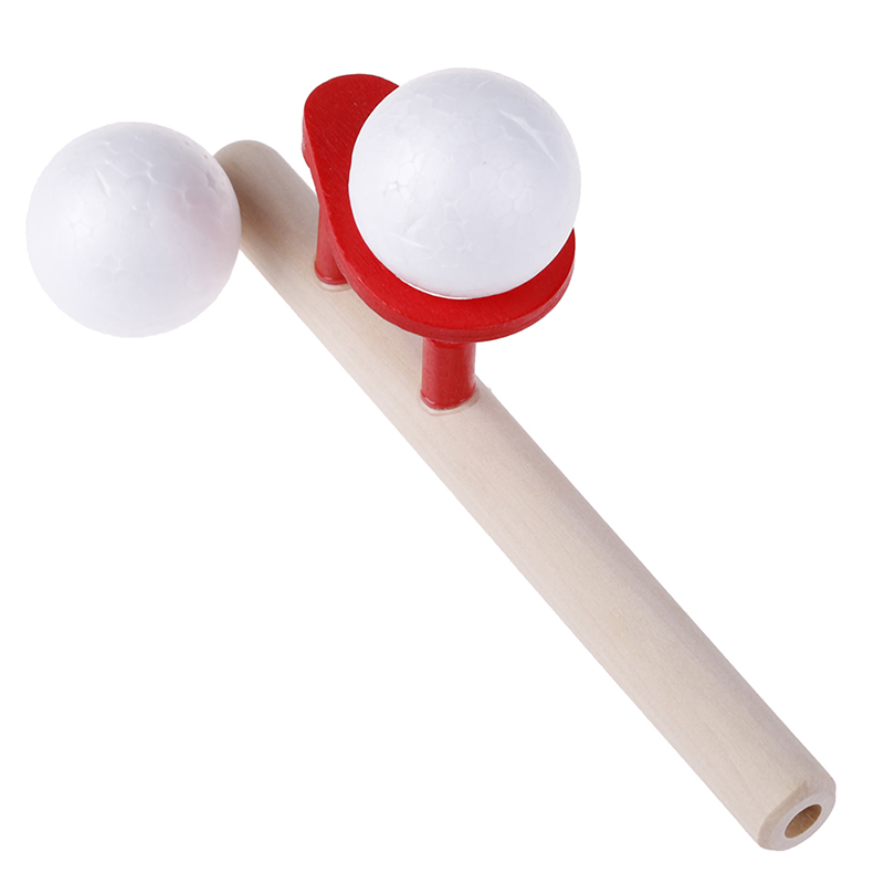 2019 useful Wooden Blowing Ball Balance Training Vital Capacity Stick for Baby Boy Girl Kid Learning Educational Toys