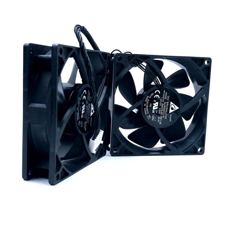 New For Delta QUR0912VH ASSY PN 644315-001 DC12V 4 Line Z620 Z800 Z820 Z840 Fan 647113-001 Workstation Fan T92T12MS3A7-57A03