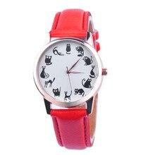 New Arrival Leather Band Women Watches Cat Watch Reloj Mujer Classic Quartz Watch Brand Casual Relogio Feminino Clock