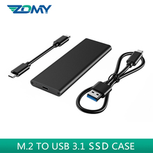 Zomy M.2 ngff ssd case 10Gbps super speed portable solid state drive external SSD M.2 NGFF to USB 3.1 hard disk drive for laptop
