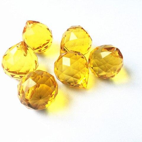 10 pcs 20mm ouro pendurado cristal facetado balls aneis livres pingentes lustre de cristal de