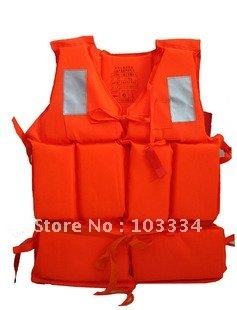 Foam life vest jacket fishing inflatable boat swimming life saving vest with rescue Whistle For Adult child children water sport