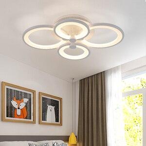 Image 4 - Dimmen + afstandsbediening living studeerkamer slaapkamer moderne led kroonluchter wit of Zwart opbouw led kroonluchter armaturen