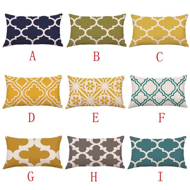 Federa da letto soggiorno di Alta Qualità Multicolore Linee Geometriche Letto Fe
