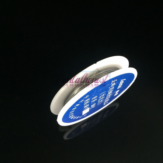 1 rollo/50g dental ligadura Alambres s acero inoxidable Alambres (dia. 0.25mm) línea ortodóntica dental