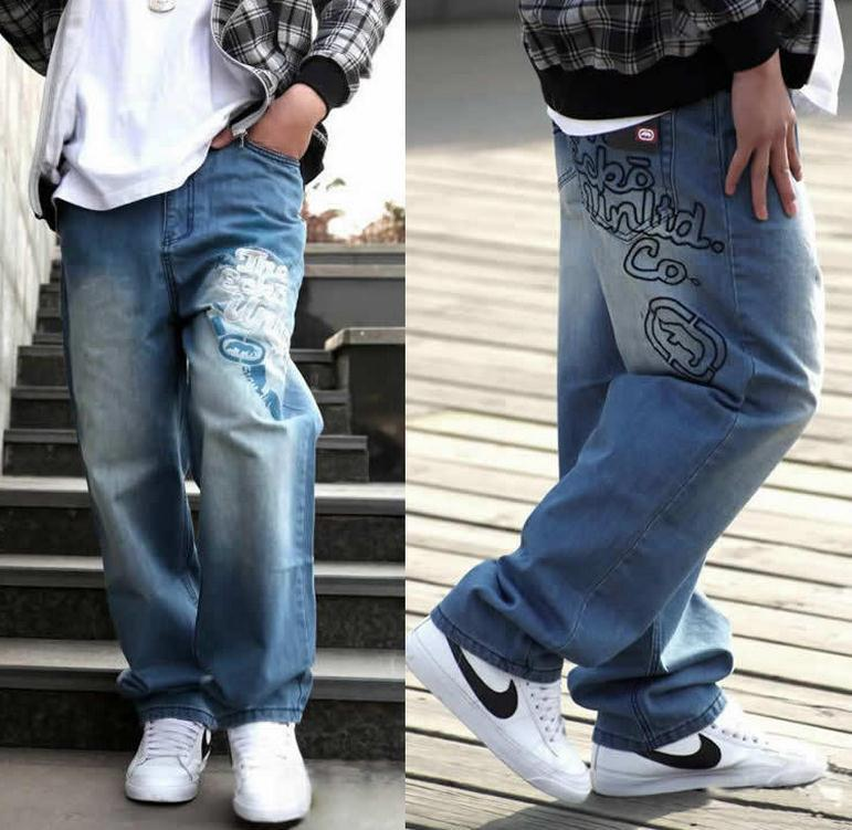 New Men Brand loose Jeans HIP HOP Skateboard Pants Men s Jeans Fashion Men Jeans trousers