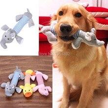 Free shipping Dog Pet Puppy Plush Sound Dog Toys Pet Puppy Chew Squeaker Squeaky Plush Sound Duck Pig & Elephant Toys 3 Designs