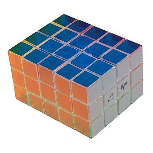 Mf8 3 x 4 x 5 funcional completa cuerpo transparente de plástico cubo mágico juguete de los cabritos educativos cubo para Speedcubers