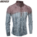 Moda chemise homme camisa de Alta Qualidade men casual camisa camisa Social Masculina Turn-down Collar imprimir único breasted MXB0238