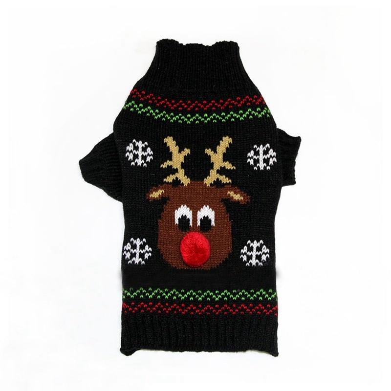 Aliexpress Buy Xmas Reindeer Pet Dog Sweater For Autumn Winter