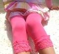 Lovely Sweet Girl Lace Velvet Leggings Ballet Stocking Cropped Capris Pants