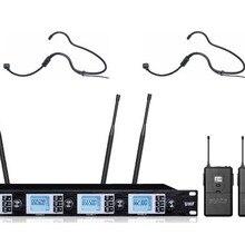 Microfono Конденсор 4X100 CH UHF Беспроводная микрофонная система 2 гарнитура 2 ручной 2 нагрудный микрофон