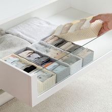 Plain Plastic Can Superposition Drawer Small Objects Finishing Box Five Panties Socks Storage