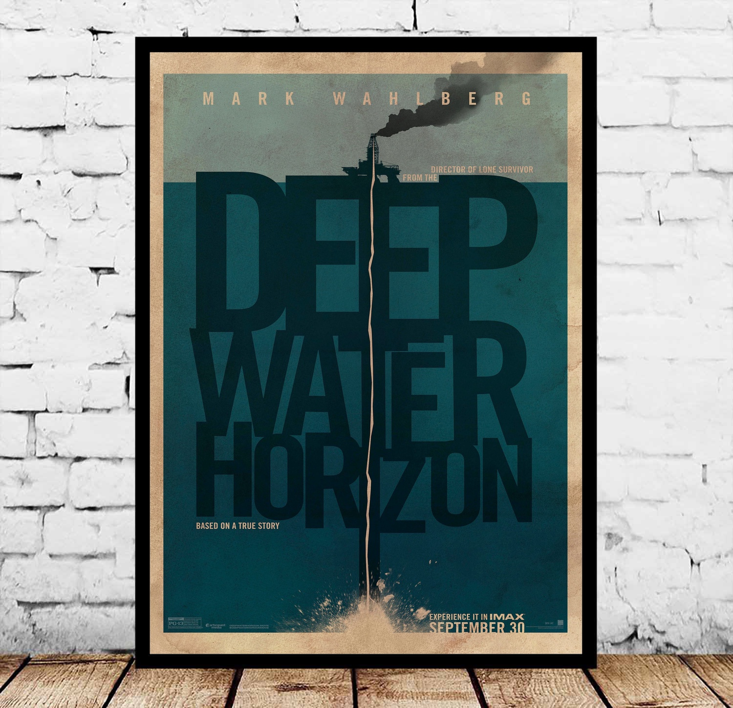 Deep Water Horizon Based on a True Story Movie Posters Silk Art Painting Wall Art No Frame image